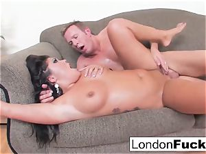 London Gets Her twat nailed