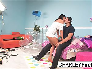 Charley haunt has some joy in this mischievous threesome