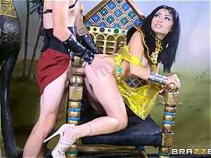gigantic manmeat stuffed into the tiny minge of Egyptian stunner Rina Ellis