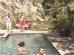 horny poolside fun part 2