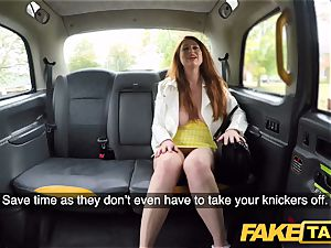 fake cab insane ginger-haired beauty in sloppy pulverize