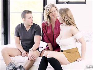 Cory pursue and Lena Paul share a meaty bone