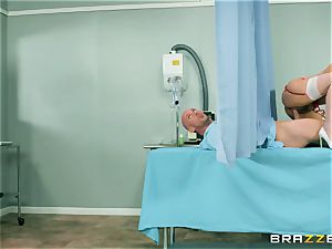huge inborn jug youthful nurse Valentina Nappi wants to perceive a ginormous pipe in her jaws