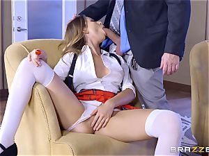 Absolutely luxurious Melissa Moore plowed in the vagina at school
