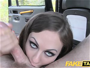 fake taxi Posh ladies swollen slit and arse pulverized