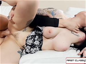 observe Draven starlet blow and bang in point of view a giant schlong