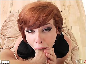 sandy-haired Veronica Avluv point of view suck